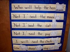 Reading chart for The Little Red Hen