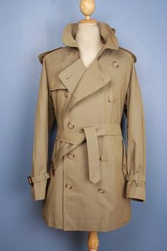 Men's  BURBERRY trench coat - green - 44/46  | Size XL