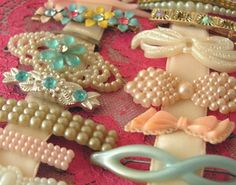 Vintage barrettes.  I had these once.