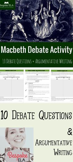 Out damned spot wear this pinterest lady macbeth english macbeth debate activity constructing oral and written arguments fandeluxe Choice Image