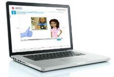 Online babysitting on laptop