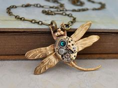 Hey, I found this really awesome Etsy listing at https://www.etsy.com/listing/129621718/steampunk-necklace-time-traveler-golden