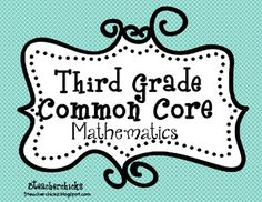 This Common Core Standards Checklist for Mathematics is unique in that it contains the teacher objective and kid friendly language. Also available for ELA in 3rd Grade.