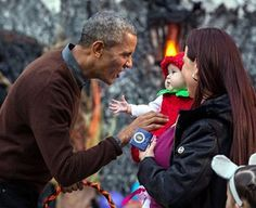 But our meticulous research shows the president often loses his cool when he meets with kids — especially kids in costume for Halloween. | President Obama Really Can't Keep His Cool Around Cute Little Kids