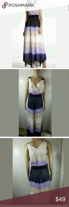 Express Ombre Maxi Dress Purple Women's Express Ombre Maxi Dress Purple Blue Medium  Gorgeous, flowy dress. Some yellowing at underarm. Not noticeable due to ombre coloring of dress.  17.5 inches pit to pit.   LB Express Dresses Maxi
