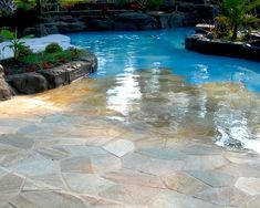 Walk-in Pool .....I need this with a pool side bar at the other end. Haha I wish