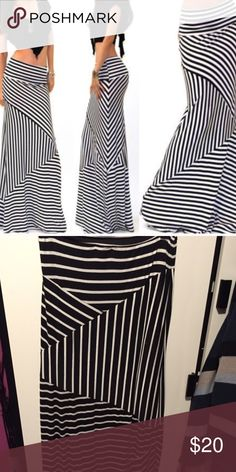 Striped Maxi Skirt Black and white striped pattern Maxi skirt. Skirts Maxi
