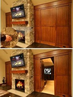 hidden stone door to secret room house pinterest wolle t ren und wohnen. Black Bedroom Furniture Sets. Home Design Ideas