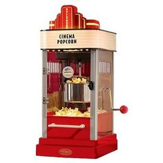 Bring the movie theatre to your own living room with this fun kettle popcorn maker by Nostalgia Electronics. Hollywood art movie palace designs decorate this maker with a light-up marquee and even ticket booth detailing. Home Theater Setup, Home Theater Seating, Theater Rooms, Movie Theater, Cinema Room, Nostalgia, Small Kitchen Appliances, Kitchen Gadgets, Kitchen Electronics