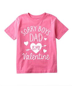 Raspberry 'Sorry Boys Dad is My Valentine' Tee - Toddler & Girls Toddler Valentine Shirts, Valentines For Boys, Valentines Day Shirts, Valentine Ideas, Dad To Be Shirts, Shirts For Girls, Toddler Girl Gifts, Baby Girl Shirts, Valentine's Day Outfit