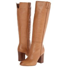 Sam Edelman Foster Women's Dress Boots, Tan ($125) ❤ liked on Polyvore featuring shoes, boots, knee-high boots, tan, leather upper boots, zip boots, sam edelman boots, knee high boots i synthetic boots