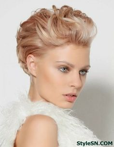 Lovely Brushed-up Wedding Bob haircut