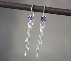 Your place to buy and sell all things handmade Amethyst Jewelry, Amethyst Earrings, Silver Drop Earrings, Gemstone Jewelry, Silver Jewelry, Silver Rings Handmade, Handmade Jewellery, Sterling Silver Heart Necklace, Jewelry Design