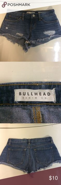 Bullhead- Denim Co. Shorts Like new.... they were given to me as a gift, but they were to small for me. Very cute, low rise shorts. Bullhead Shorts Jean Shorts