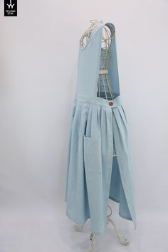 쏘잉별 외트임 장금이 원피스 앞치마 린넨 인디블루 : 네이버 블로그 Boho Fashion, Girl Fashion, Fashion Outfits, Womens Fashion, Aprons Vintage, Vintage Skirt, Diy Clothing, Sewing Clothes, Pinafore Apron