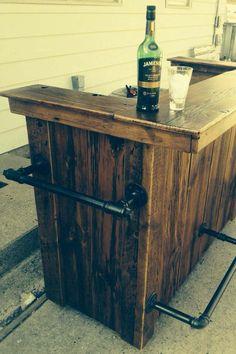 meuble de bar rustique