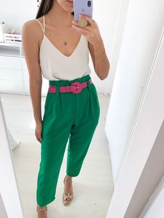 Look Fashion, Urban Fashion, Fashion Outfits, Colourful Outfits, Colorful Fashion, Colour Combinations Fashion, Look Office, Color Blocking Outfits, Casual Outfits