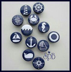 our kids Nautical Drawer Knob, Drawer Pulls, Nautical Nursery Decor, Nautical Cabinet Pulls, Dresser Knobs for Kids Room ===================================================================== Nautical Drawer Knobs, Nautical Drawers, Pebble Painting, Pebble Art, Stone Painting, Rock Painting Patterns, Rock Painting Designs, Stone Crafts, Rock Crafts