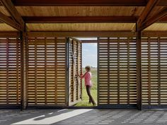 We end 2016 with a sustainable project, granted certification as a Living Building and one of the AIA's Top Ten projects for The Josey Pavilion for the Dixon Water Foundation in Texas to a design by Lake Flato Architects. Porches, Wooden Pavilion, Lake Flato, Passive Design, Built Environment, Green Building, Modern Architecture, Pavilion Architecture, School Architecture