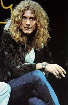 """  Robert Plant at Midnight Special in Los Angeles, 1975. """
