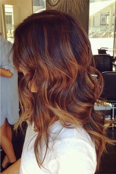 caramel ombre with balayage highlights