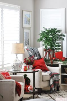 Festive Red Christmas Decor