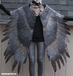 Wing Feather Wrap OOAK Shawl Art Missmonster | eBay