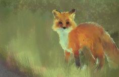 'Sketchy Fox' by greyinthedark (greyinthedark.deviantart.com) done in Rebelle. #Rebellelovesanimals  -------- More watercolor art at rebelle.escapemotions.com