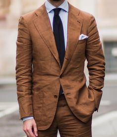 "toquote: "" Inspiration for a upcoming tobacco linen suit. Here from the Spanish…"