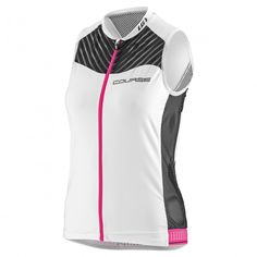 43b9db5a Women's Course 2 Sleeveless Black/White/Pink Cycling Clothes, Cycling  Outfit, Black