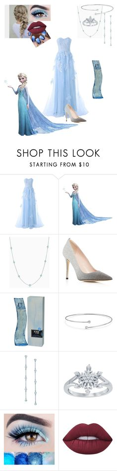 """Elsa"" by kara-meyer ❤ liked on Polyvore featuring Reception, RoomMates Decor, Elsa Peretti, SJP, Disney and Lime Crime"