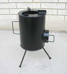 the basic Grover camping stove, which burns wood