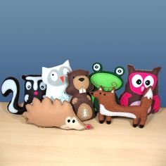 Pick 1 Woodland Forest Animal Hand Sewing by LittleHibouShoppe, $4.00