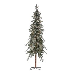 Bring the beauty of an Alpine Christmas forest into your own home with this, pre-lit flocked Alpine Tree. Meant for indoor use, you can enjoy 582 sturdy branch tips for ornaments that allow you to cheer Alpine Christmas Tree, Alpine Tree, Natural Christmas Tree, Flocked Christmas Trees, Cozy Christmas, Xmas, Natal Natural, White Branches, Weihnachten