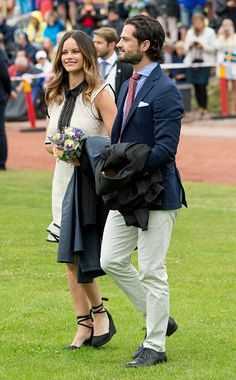Prince Carl Philip of Sweden and Princess Sofia of Sweden attend a concert at the 39th birthday celebrations for Crown Princess Victoria on July 14, 2016 in Oland, Sweden.