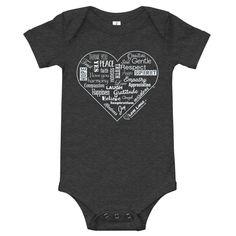 Baby (Onesie) short sleeve one piece - Dark Grey Heather / 18-24m