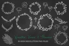 Check out 18 PNG wreaths, vines & flowers by michL g studios on Creative Market