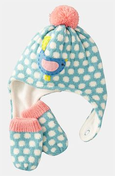Mini Boden Hat & Mittens (Infant & Toddler) | Nordstrom -- love this brand