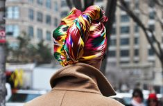 Multi-Colored Abstract Print Headscarf | Trillista Street Style