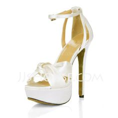 Wedding Shoes - $44.99 - Silk Like Satin Stiletto Heel Platform Sandals Wedding Shoes With Buckle Rhinestone (047016977) http://jjshouse.com/Silk-Like-Satin-Stiletto-Heel-Platform-Sandals-Wedding-Shoes-With-Buckle-Rhinestone-047016977-g16977