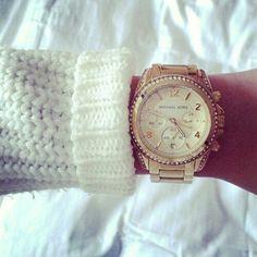 watch & white knit