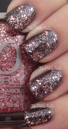 Light gray with light pink sparkles ^^
