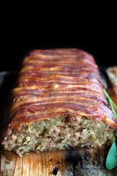 Bacon Wrapped Sage & Sausage Stuffing recipe #bacon #foodporn # ...