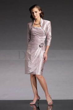 5dc2b5021f Two-piece Satin Mother of the Bride Dress