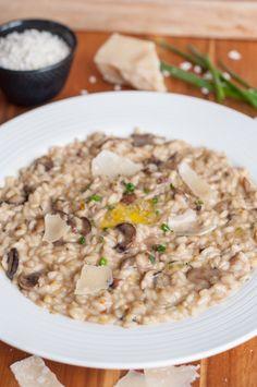 Creamy Mushroom Risotto with shiitake, leeks and truffle honey will impress your most hard core Italian foodie friend.