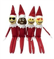Make room on your shelf for the Emoji Elves! Your set comes with one of each Elf shown, for a total of Four Elves.