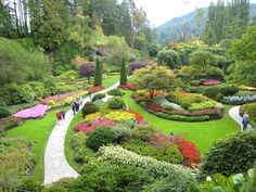 British Columbia's Butchart Gardens come alive in the spring. The 55 acres of flowers and plants make up one of Canada's national historic sites and host more than 1 million visitors each year.