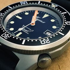 A black dial Squale 1521 Satinato. #Squale #Watches