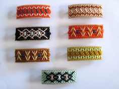 Tapestry Wool, Barrettes by Pin Pals