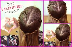 Cute DIY Valentine's Day Ideas , A Cute Braided Heart Hairstyle perfect for Valentine's Day by Braidsandstyles12   Tutorial : https://www.youtube.com/watch?v=4NMuXX58Jx0&list=UU8ouEGIBm1GNFabA_eoFbOQ  #Valentine's #DIYIdeas #DIYValentineidea #Valentine's Day Hairstyles